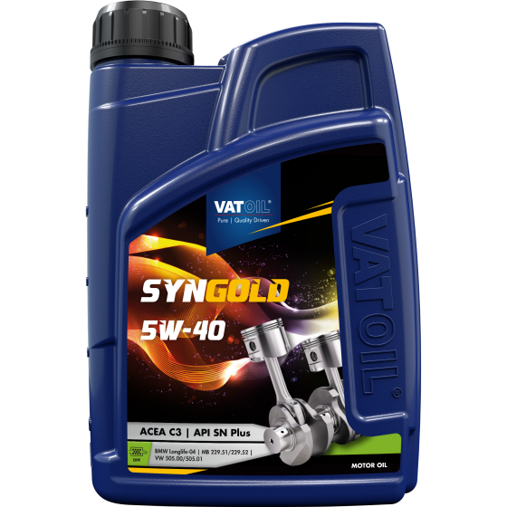 1 L bottle VatOil SynGold 5W-40
