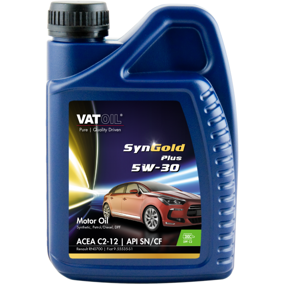 1 L bottle VatOil SynGold Plus 5W-30