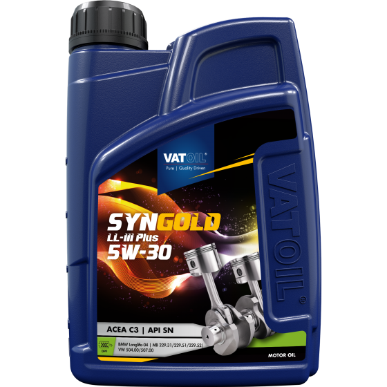 1 L bottle VatOil SynGold LL-III Plus 5W-30