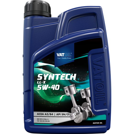1 L bottle VatOil SynTech LL-X 5W-40