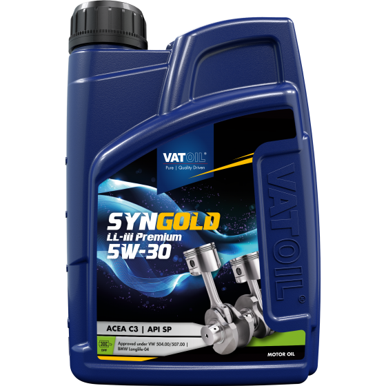 1 L bottle VatOil SynGold LL-III Premium 5W-30