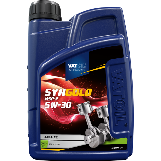 1 L bottle VatOil Syngold MSP-P 5W-30