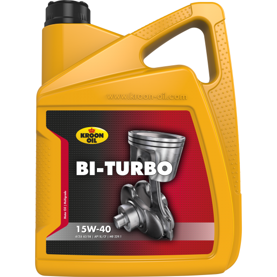 5 L can Kroon-Oil Bi-Turbo 15W-40