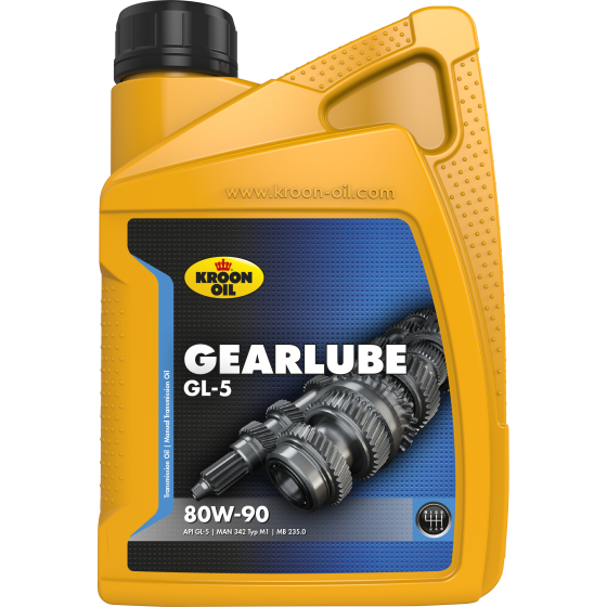 1 L flacon Kroon-Oil Gearlube GL-5 80W-90