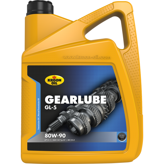 5 L can Kroon-Oil Gearlube GL-5 80W-90