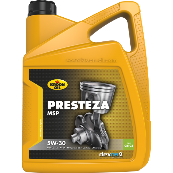 5 L can Kroon-Oil Presteza MSP 5W-30