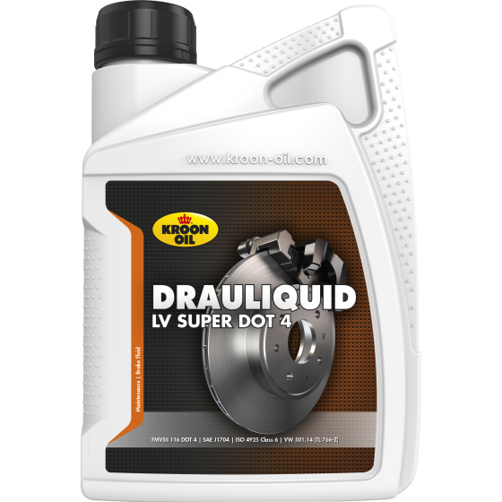 1 L bottle Kroon-Oil Drauliquid-LV DOT 4