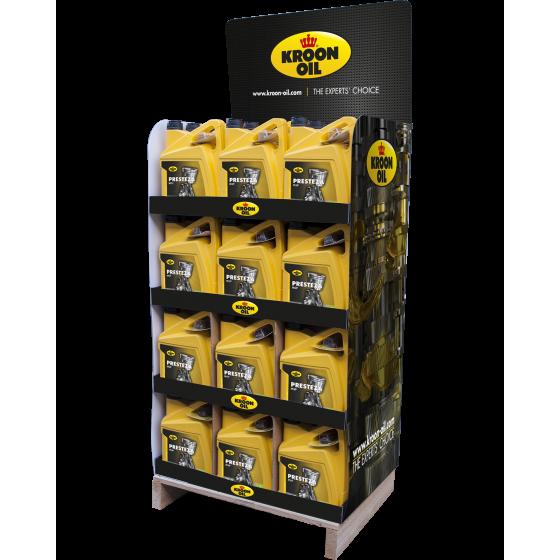 5 L can Kroon-Oil Presteza MSP 5W-30 Display