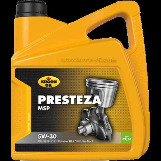 4 L can Kroon-Oil Presteza MSP 5W-30