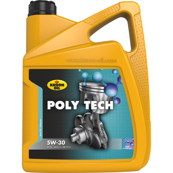 5 L can Kroon-Oil Poly Tech 5W-30
