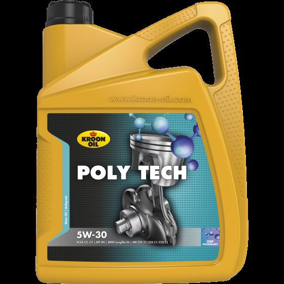 5 L can Kroon-Oil Poly Tech 5W-30