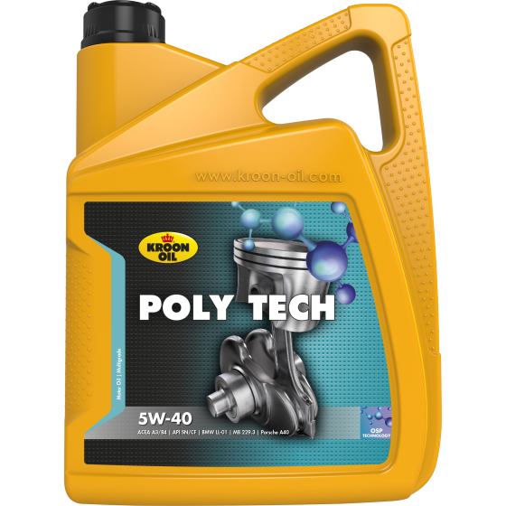 5 L can Kroon-Oil Poly Tech 5W-40