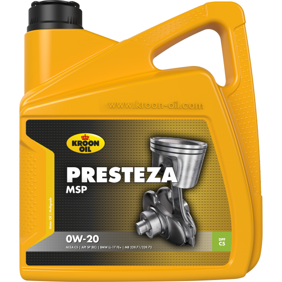 4 L can Kroon-Oil Presteza MSP 0W-20
