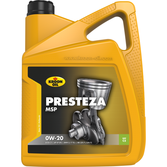 5 L can Kroon-Oil Presteza MSP 0W-20