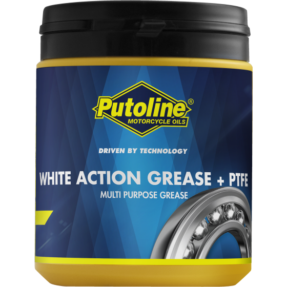 600 g pot Putoline White Action Grease + PTFE