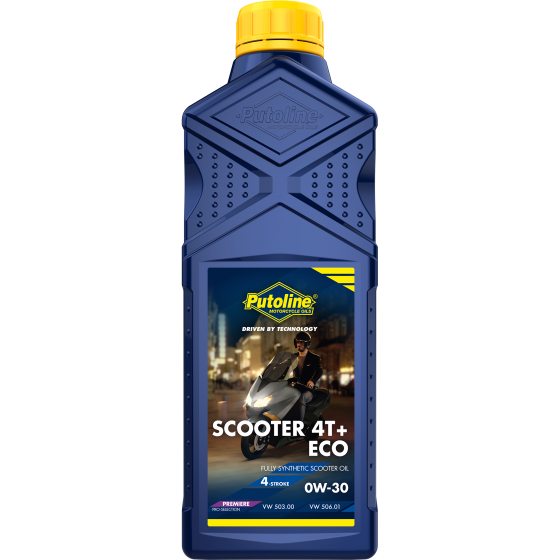 1 L bottle Putoline Scooter 4T+ ECO 0W-30
