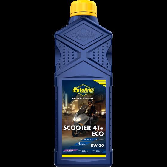 1 L bottle Putoline Scooter 4T+ ECO 0W-30